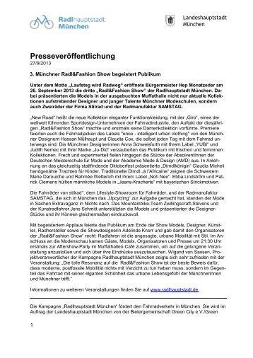 3. Münchner Radl&Fashion; Show begeistert Publikum