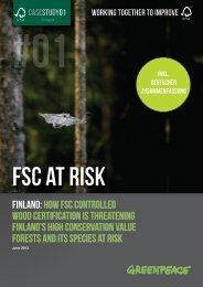 FSC at risk: Finland | Greenpeace