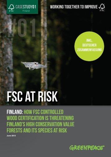 FSC at risk: Finland | Greenpeace