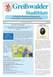 Stadtblatt - Hansestadt Greifswald