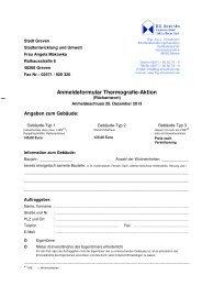 Anmeldeformular Thermografie-Aktion - Stadt Greven