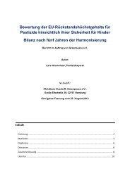 Bewertung der EU-Rückstandshöchstgehalte für ... - Greenpeace