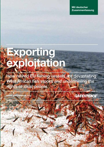 """Exporting Exploitation"" - ""Export der Ausbeutung ... - Greenpeace"