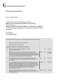 Tagesordnung November - Grosser Rat - Kanton Basel-Stadt