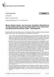 13.5226.02, Stellungnahme des RR - Grosser Rat - Kanton Basel ...