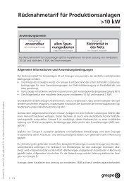 die neuen Rücknahmetarife - Groupe E