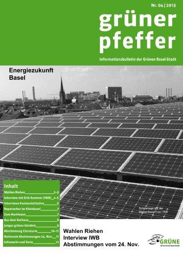 Nr. 04-2013 - Ausgabe November 2013 - Grüne Partei Basel-Stadt