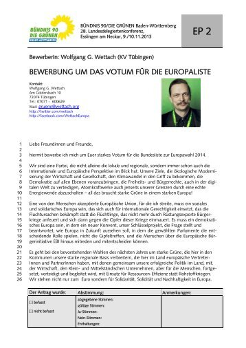 Wolfgang G. Wettach - BÜNDNIS 90/DIE GRÜNEN Baden ...