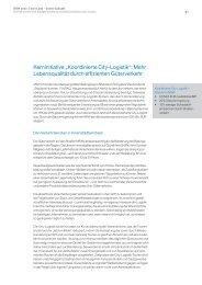 """Koordinierte City-Logistik"", Auszug aus der Studie ""NRW 2020"""