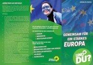 Flyer Europa-Politik als pdf - Bündnis 90/Die Grünen Düsseldorf