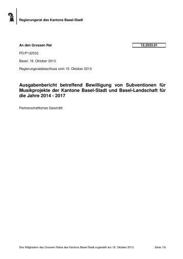 13.2533.01 - Grosser Rat - Kanton Basel-Stadt