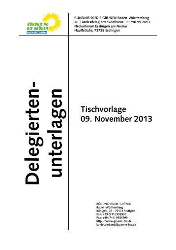 Tischvorlage der Delegiertenunterlagen (PDF) - BÜNDNIS 90/DIE ...