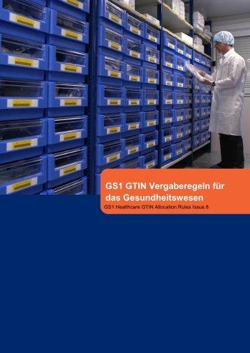 GS1 GTIN Vergaberegeln für das Gesundheitswesen