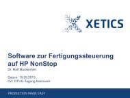Produktpräsentation XETICS GmbH - GTUG
