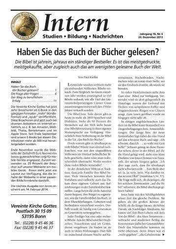 November-Dezember 2013 (PDF) - Gute Nachrichten