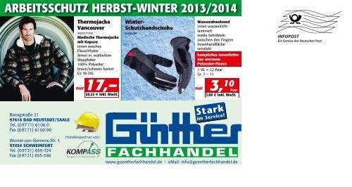 ARBEITSSCHUTZ HERBST-WINTER 2013/2014