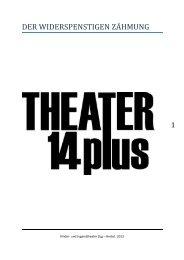 Kinder- und Jugendtheater Zug – Herbst 2013 - guidle