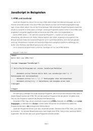 JavaScript in Beispielen