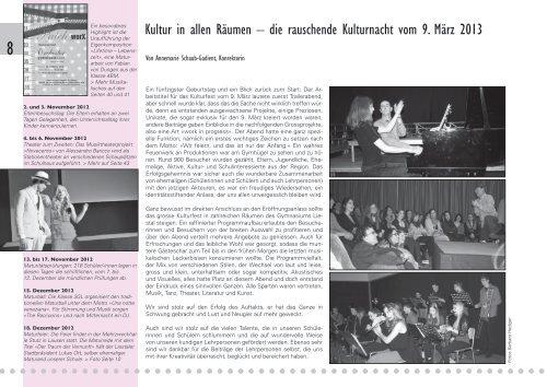 JAHRESBERICHT - Gymnasium Liestal