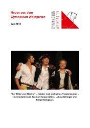 Ausgabe 3/2013 (Juli) - Gymnasium Weingarten