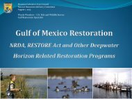 RESTORE Act , Gulf Restoration and Landscape Conservation ...
