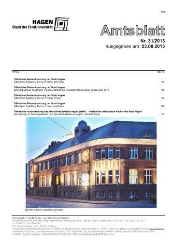 Nr. 31/2013 ausgegeben am: 23.08.2013 - Hagen