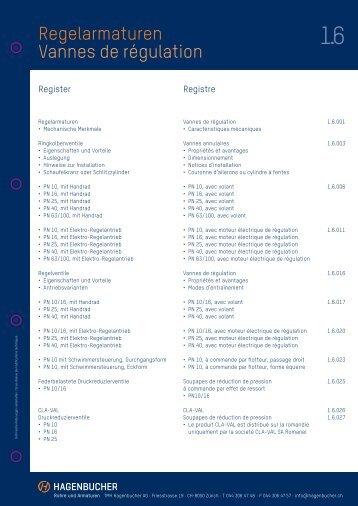 1.6 Regelarmaturen - Hagenbucher