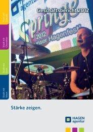 Geschäftsbericht 2012 - HAGENagentur