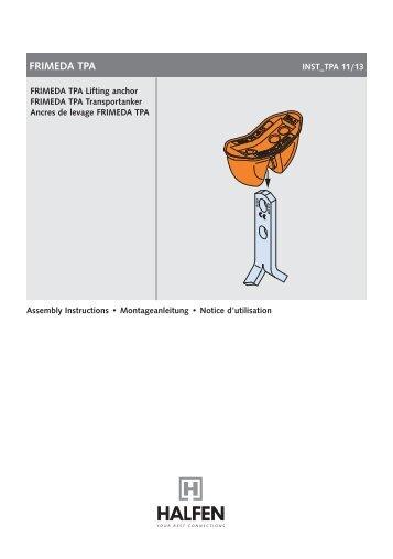 FRIMEDA TPA Lifting Anchor - Assembly Instructions - Halfen