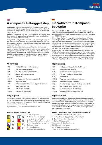 A composite full-rigged ship Ein Vollschiff in Komposit ... - Halmstad