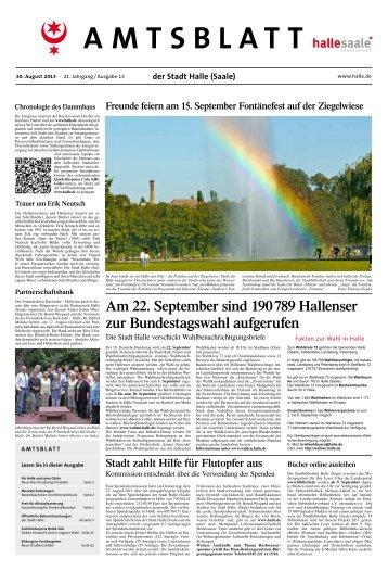 Amtsblatt Nr. 13 vom 30. August 2013 - Stadt Halle (Saale)