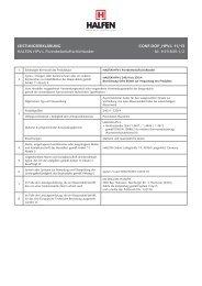 LEISTUNGSERKLÄRUNG CONF-DOP_HPV-L 11/13 HALFEN HPV ...