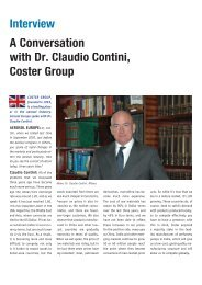 Interview A Conversation with Dr. Claudio Contini, Coster Group