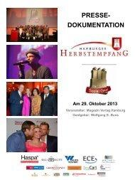 PRESSE- DOKUMENTATION Am 29. Oktober 2013 - Hamburger ...