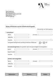 Stadt Augsburg Bauordnungsamt Untere Denkmalschutzbehörde ...