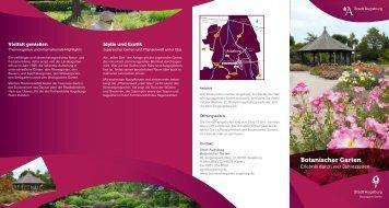 Flyer Botanischer Garten mit Lageplan - Stadt Augsburg
