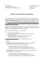 Merkblatt Antragsunterlagen für Privatkliniken - Stadt Augsburg