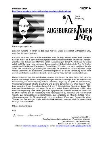 INFOBLATT Jan-März 2014 - Stadt Augsburg