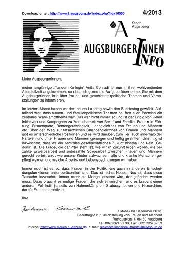 INFOBLATT Okt.-Dez. 2013 - Stadt Augsburg