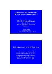 Vortrag Dr. Martin Höltershinken • Probleme im Milchviehbestand
