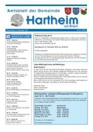 Gemeindeblatt 2013 KW46 - Gemeinde Hartheim
