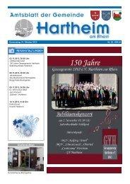 Gemeindeblatt 2013 KW44 - Gemeinde Hartheim