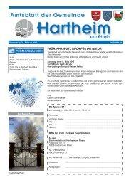 Gemeindeblatt 2013 KW08 - Gemeinde Hartheim