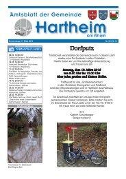 Gemeindeblatt 2013 KW10 - Gemeinde Hartheim