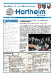 Gemeindeblatt 2013 KW06 - Gemeinde Hartheim