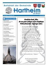 Gemeindeblatt 2013 KW50 - Gemeinde Hartheim
