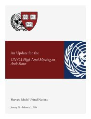 An Update for the UN GA High-Level Meeting on Arab States