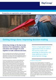 Gettting things done: Improving decision-making - Hay Group