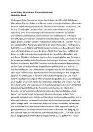 Text von Gabriele Sand, Sprengel Museum Hannover