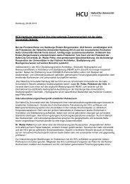 Pressemitteilung - HafenCity Universität Hamburg